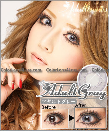 Adult Grey Colored Contacts (PAIR)