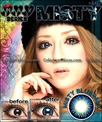MISTY BLUE Colored Contacts (PAIR)
