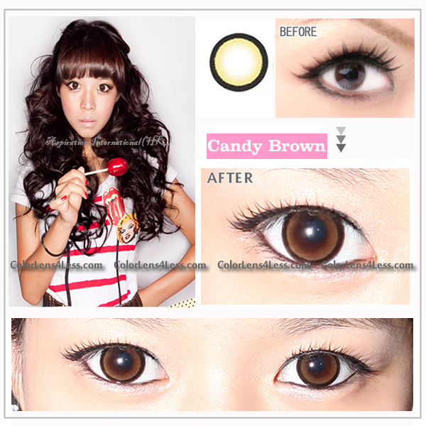 EOS CANDY Brown Colored Contacts (PAIR)