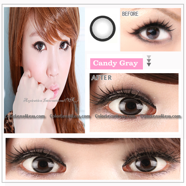 EOS candy Grey Colored Contacts (PAIR)