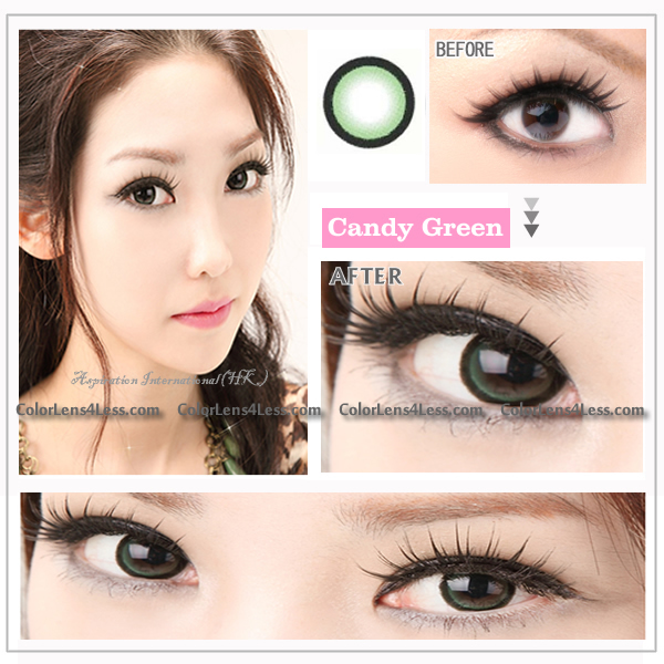 EOS CANDY Green Colored Contacts (Pair)