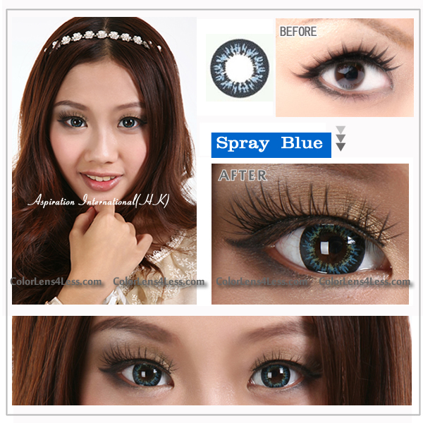 EOS Spray Blue Contact Lens (PAIR)