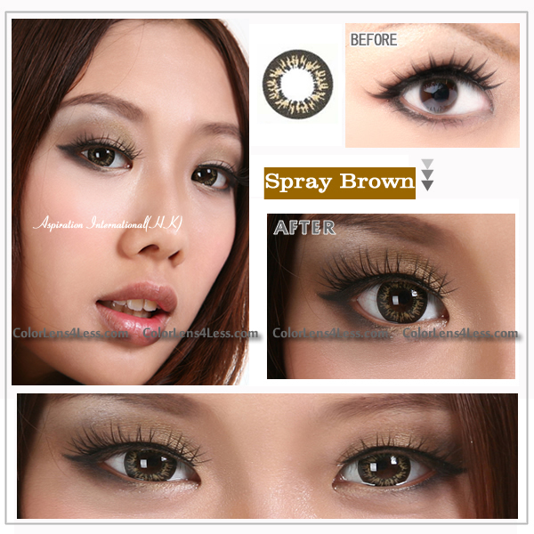 EOS Spray Brown Colored Contacts (PAIR)