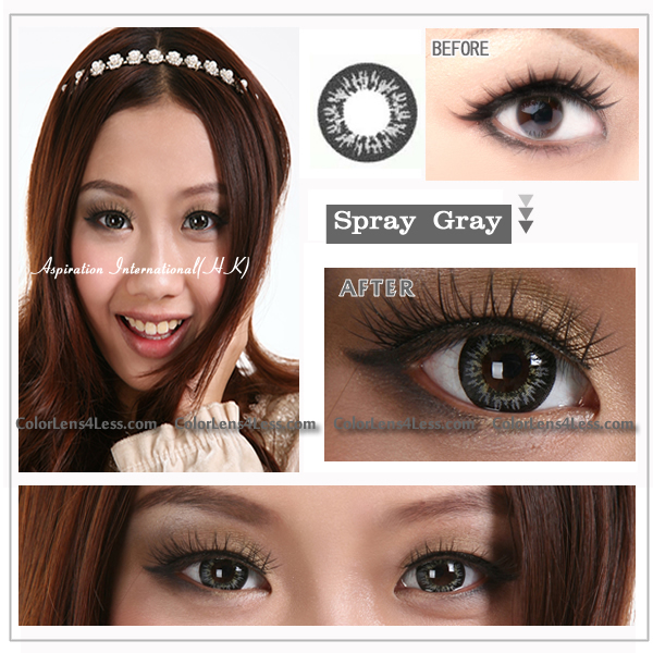 EOS Spray Grey Colored Contacts (PAIR)