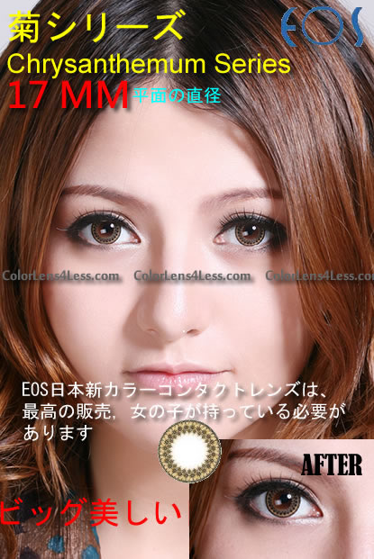 EOS Chrysanthemum Brown Contact Lens (PAIR)