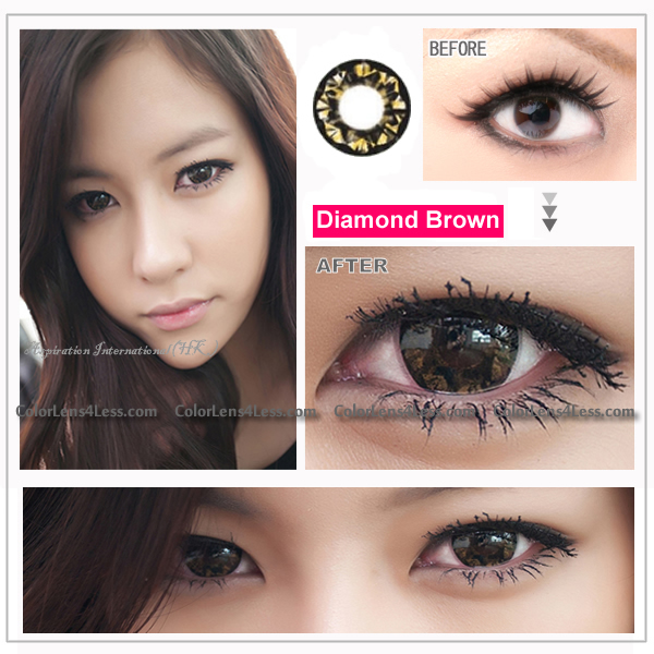 EOS Diamond Brown Colored Contacts (PAIR)