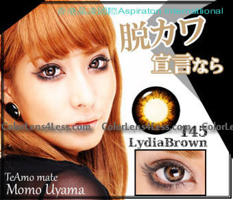 TeAmo Lydia Brown Colored Contacts (PAIR)