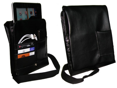 GINGO b Leather Messenger Bag for iPad / iPad 2
