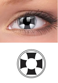 Black Cross Crazy Contact Lens (PAIR)