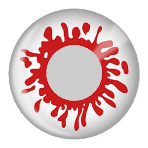 Blood Splat Crazy Contact Lens (pair)