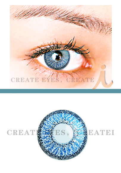 Blue Double Colored Contacts (PAIR)