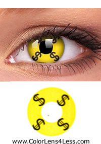 Money Crazy Contact Lens (PAIR)