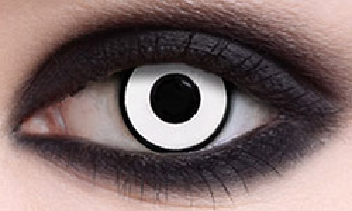 MANSON WHITE CRAZY CONTACTS (PAIR)