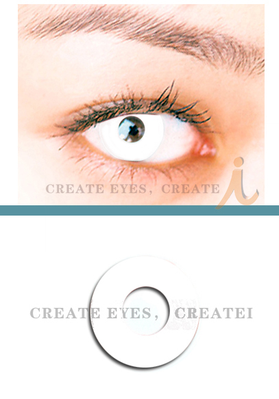 Pearl White Crazy Contact Lens (Pair)