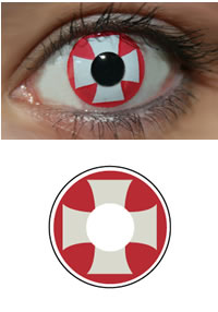Red Cross Halloween Contacts (PAIR)