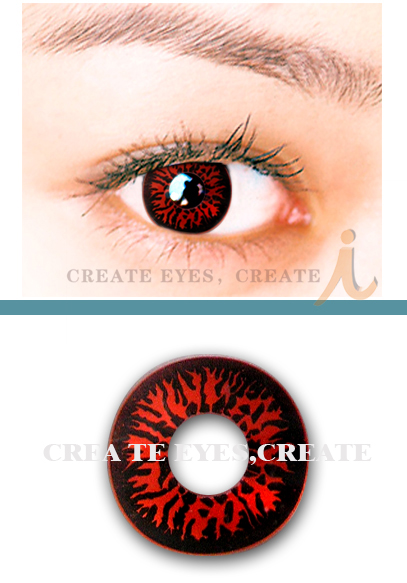 Red Wolf Eyes Crazy Contact Lens (pair)