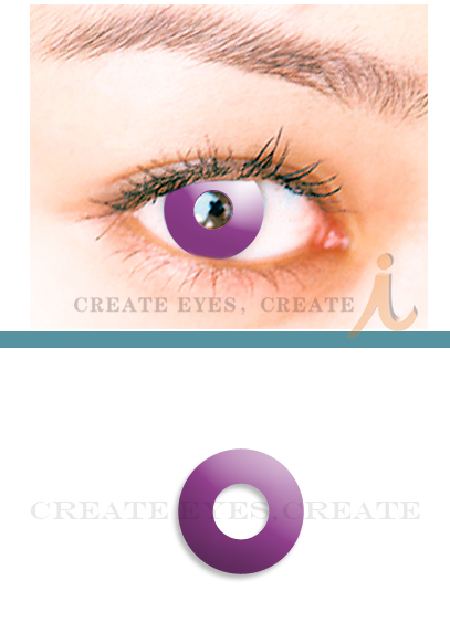 Violet Sea Halloween Contacts (PAIR)