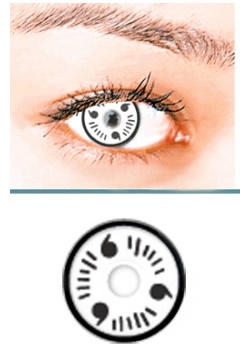 White Itachi Crazy Contact Lens(PAIR)