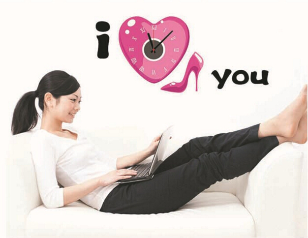 I Love You Real Clock Wall Sticker