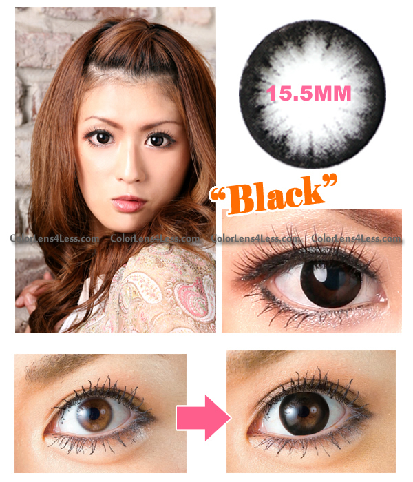 Hyper Black Colored Contacts (PAIR)