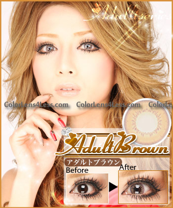 Adult Brown Colored Contacts (PAIR)