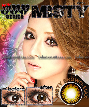 MISTY BROWN Colored Contacts (PAIR)