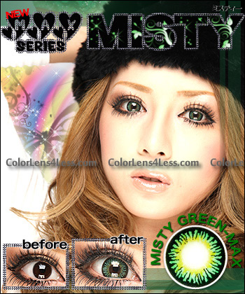 MISTY GREEN Colored Contacts (Pair)