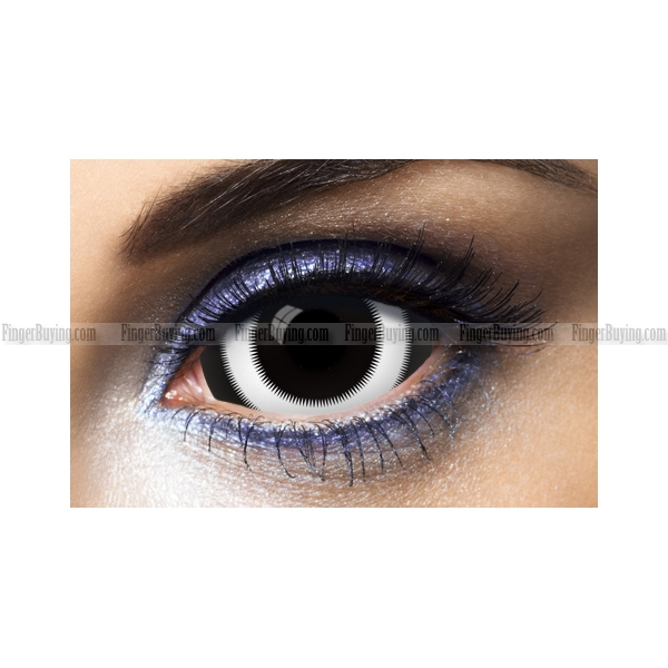 White Ring Sclera Contact Lenses (PAIR)