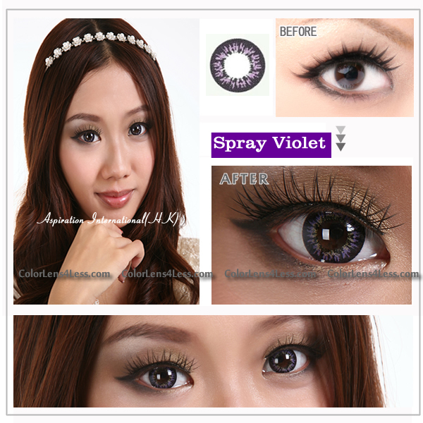 EOS Spray Violet Colored Contacts (PAIR)
