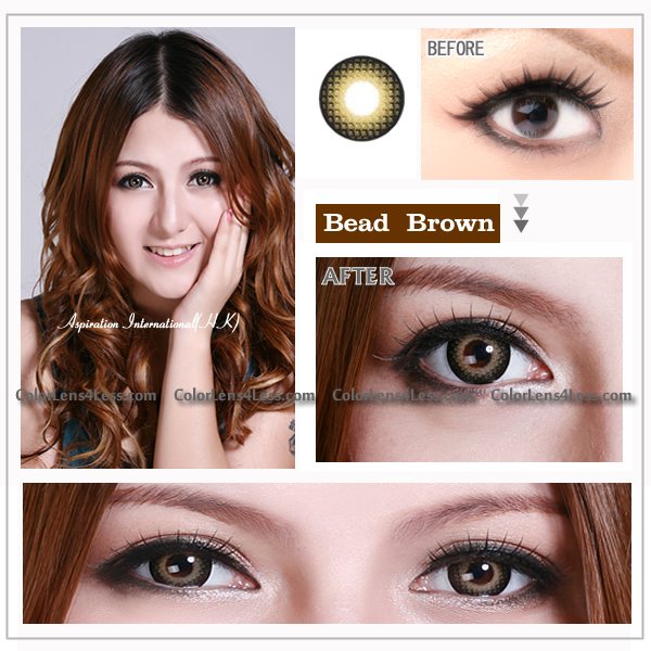 EOS BEAD Brown Contact Lens (PAIR)