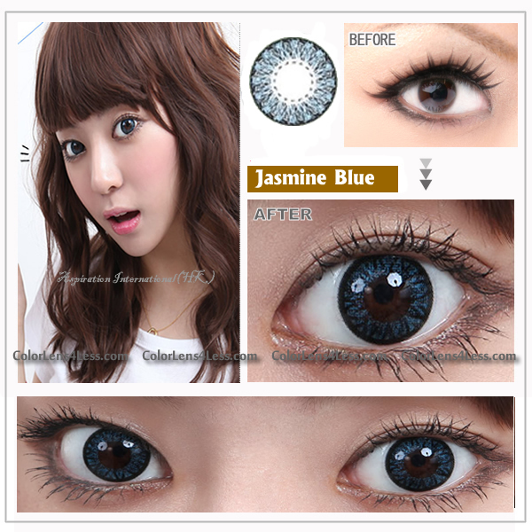 EOS Jasmine Blue Colored Contacts (Pair)