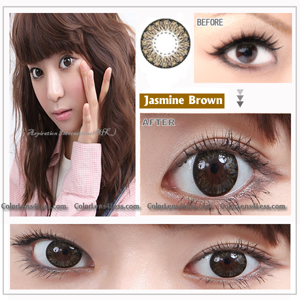 EOS Jasmine Brown Colored Contacts (PAIR)