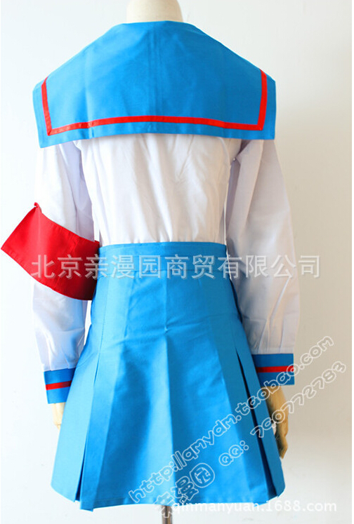 Japanese School Uniform Cosplay Costume Inspired by Haruhi Suzum