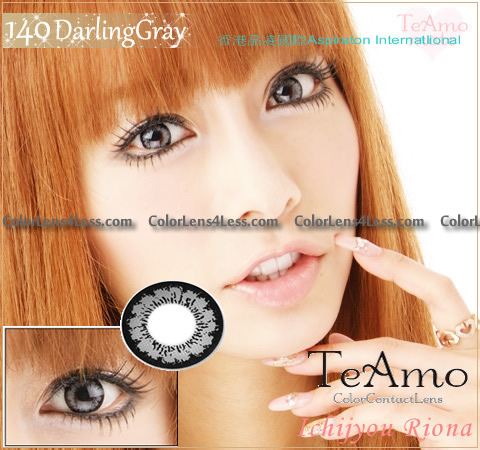 TeAmo Darling Grey Colored Contacts (PAIR)