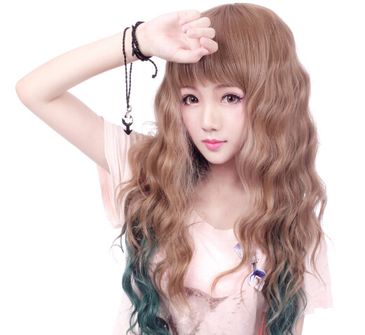 Japan Style Long Curly Wigs