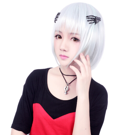 Lovely Look White Color Wigs
