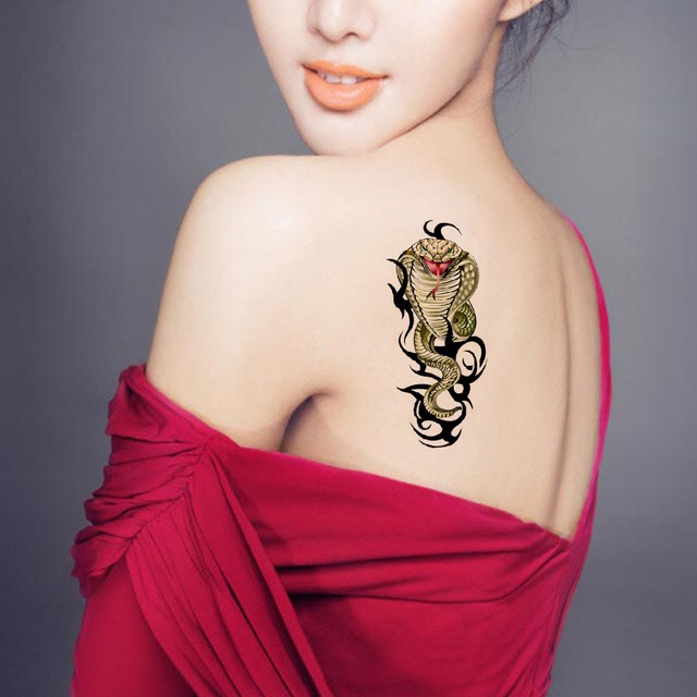 Cobra Tattoo Sticker Waterproof Temporary Tattoo HM033