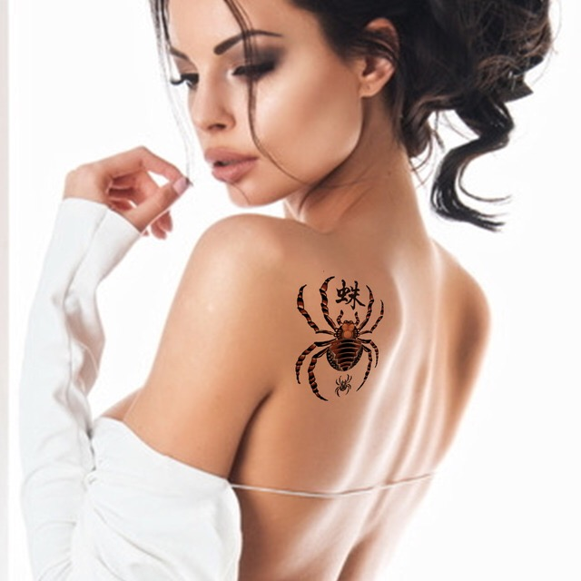 SPIDER WATERPROOF TEMPORARY TATTOO STICKER HM333