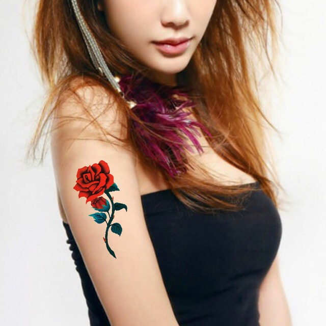 ROSE Tattoo Sticker Waterproof Temporary Tattoo HM362