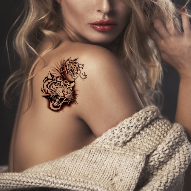 TIGER WATERPROOF TEMPORARY TATTOO STICKER HM562