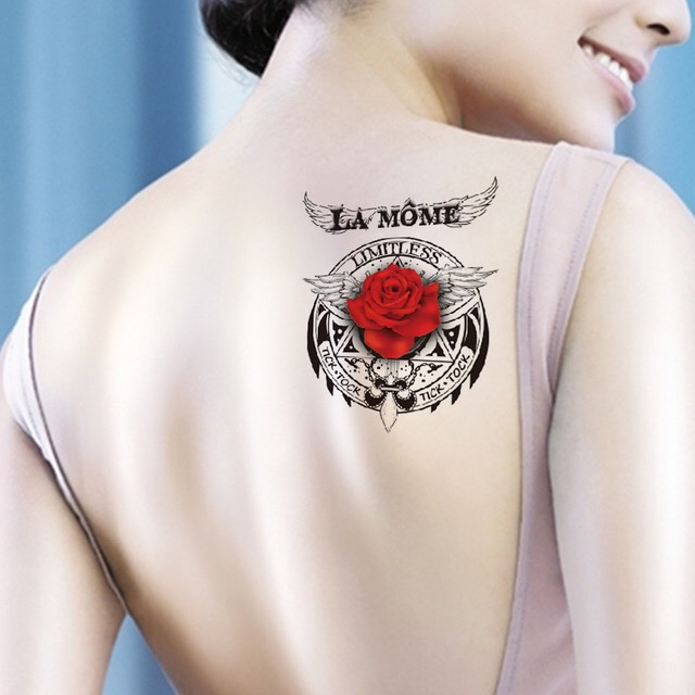 LA MOME ROSE WATERPROOF TEMPORARY TATTOO STICKER HM748