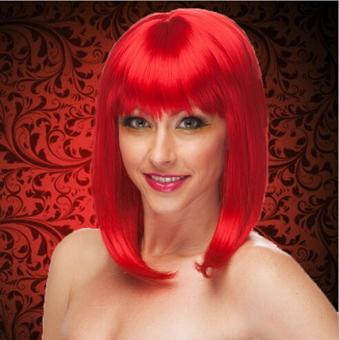Scarlet Coquette Adult Wigs