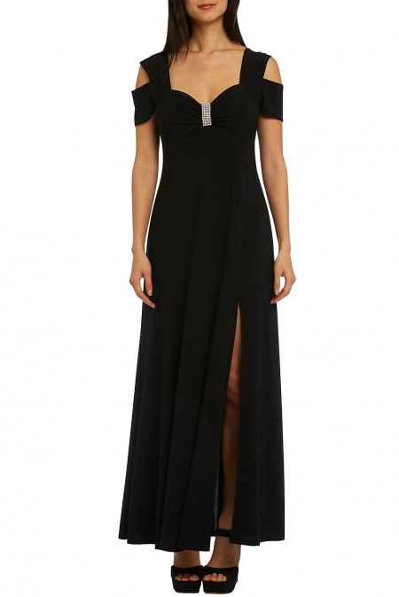 Black Long Cold Shoulder Dress