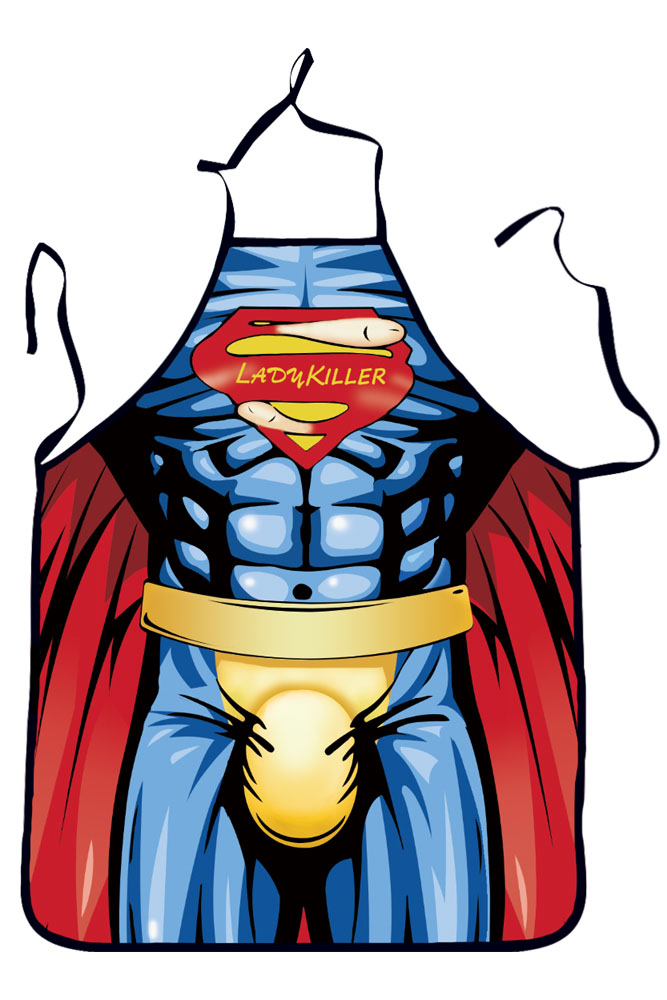 Funny Superhero Lady Killer Apron
