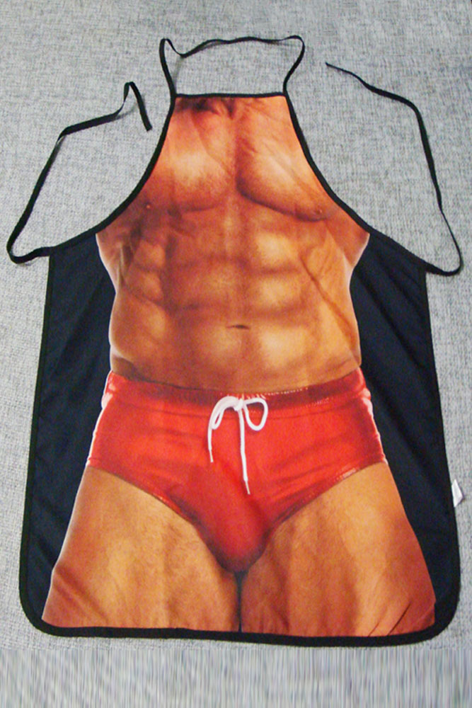 Muscle Man Barbecure Funny Apron