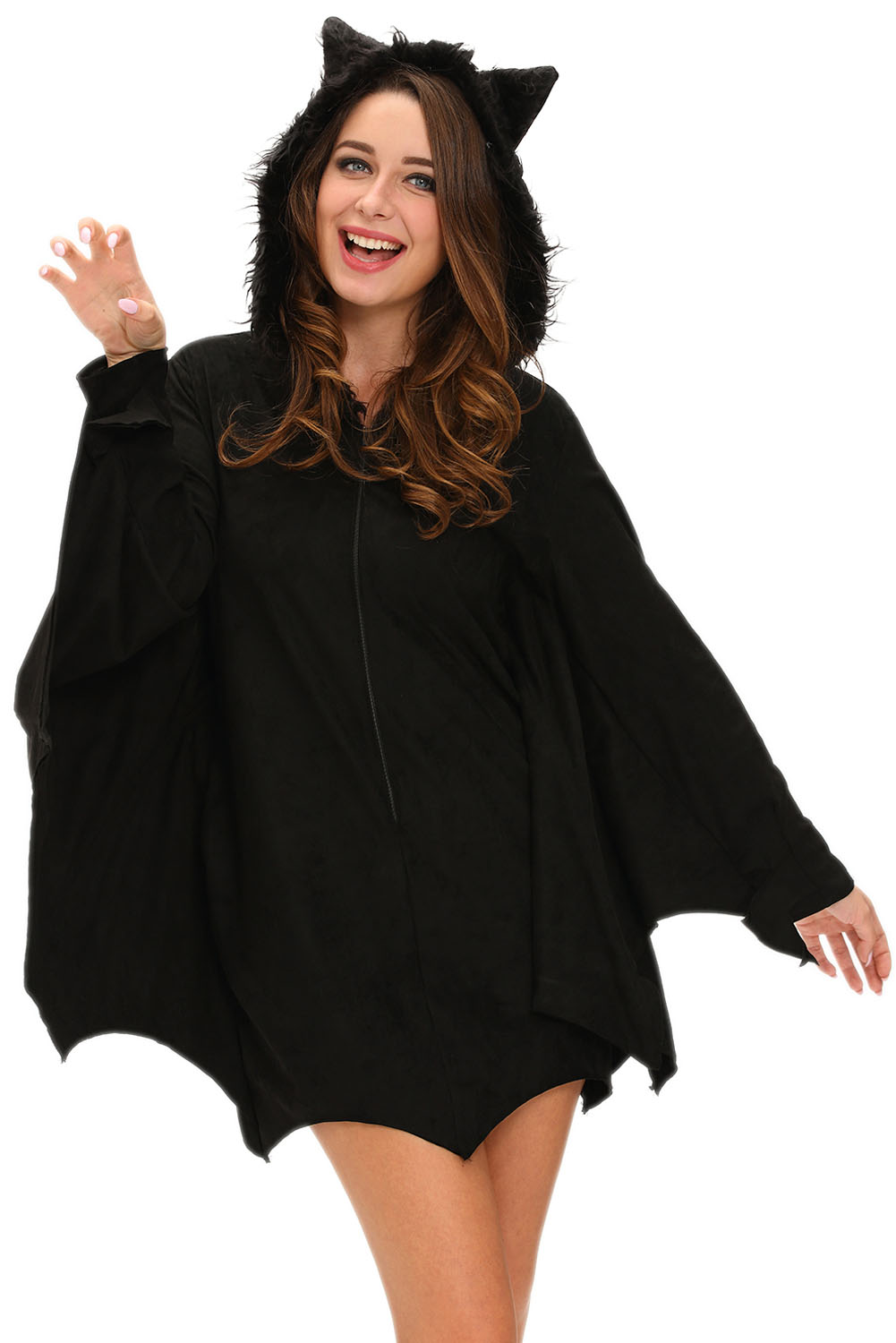 All in Black Bat Adult Halloween Costume