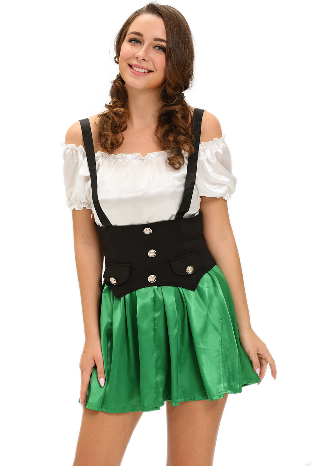 Shamrock Sweetie 2pcs Beer Girl Costume