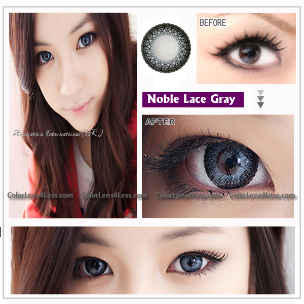 eos lace gray colored contacts pair
