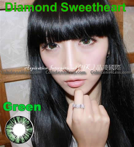 MI Pineapple Green Colored Contacts (Pair)