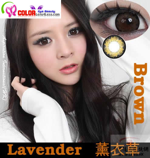 CIB Lavender XTRA Brown Colored Contacts (PAIR)